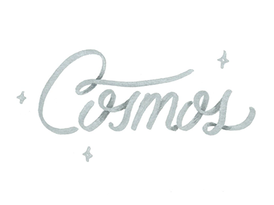 Cosmos silver stars space theme space logo space typography type cosmos hand lettering lettering