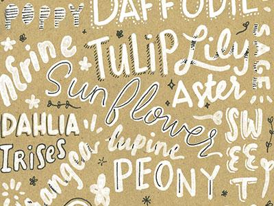 🌷 flower font typography friendly font fun type hand written handwriting custom type hand lettering lettering