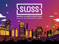 Sloss Music & Arts Festival Poster Illustration
