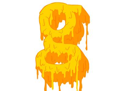 Gooey G liquid type liquid font messy font illustrated type illustration drip drippy type hand lettering g typography letter g