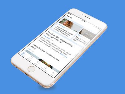 Blogging App uxresearch ux designer ui mobile ui