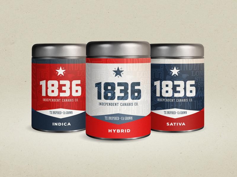 1836 Packaging packaging texas cannabis design branding