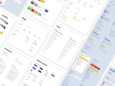 RCR Executive - Design system ui elements alert color search form filter tags avatars card button stepper font icon animation interaction ux design system design interface ui