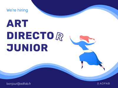 Adfab — We're Hiring an Art Director recruiting recruitment recruit adfab directeur artistique careers career hiring director art logo illustration ui design