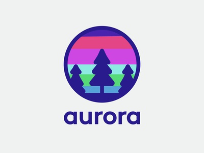 Aurora - Natural wonder logo