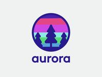 Aurora - Natural wonder logo