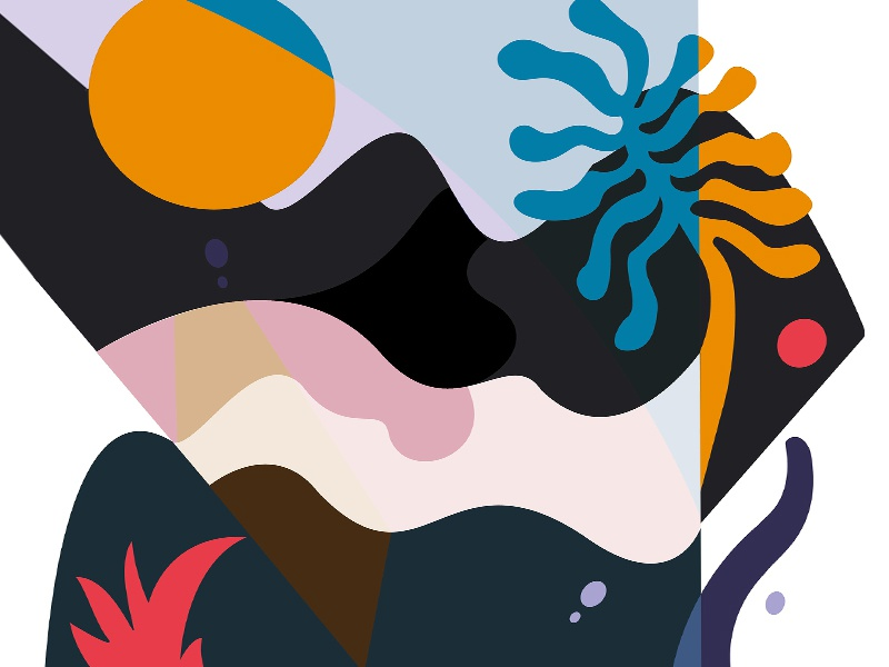 Jungle shapes abstract jungle vector graphic illustration