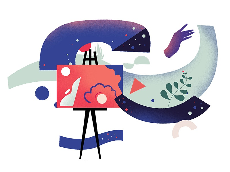 Art painting abstract vector graphic illustration