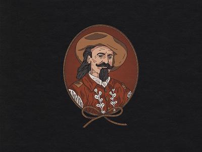 Buffalo Bill art western vintage branding custom handmade t-shirt hand drawn illustration design