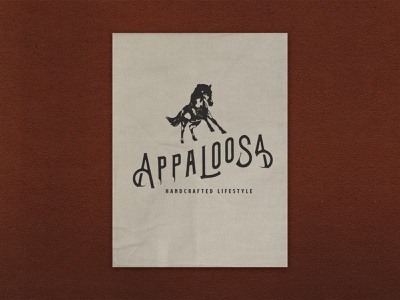 Appaloosa Logo hand letter lettering custom logo branding handmade typography hand drawn illustration design