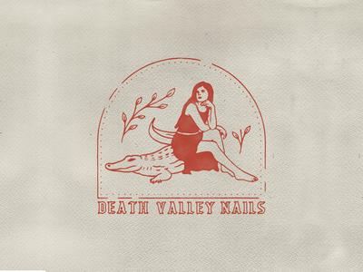 Death Valley Nails brand identity logo branding custom handmade typography hand drawn illustration design