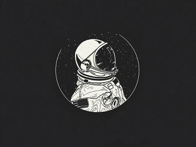 Astronaut astronaut space spot illustration custom handmade hand drawn illustration design
