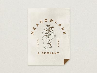 Meadowlark & Co. brand identity logo branding custom handmade typography hand drawn illustration design