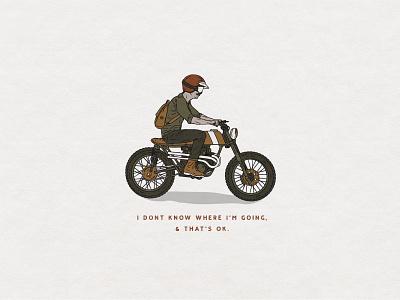 Motorcycle Illustration motorbike motorcycle t-shirt handmade hand drawn illustration design