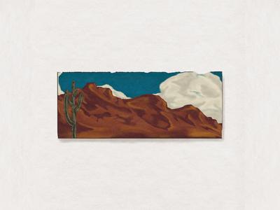 Desert Series cowboy horse buffalo cactus desert logo branding custom handmade hand drawn illustration design