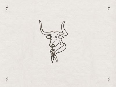 Longhorn western vintage logo branding custom handmade hand drawn illustration design