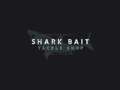 Shark Bait custom branding design logo hunting shop tackle store outdoor fishing shark