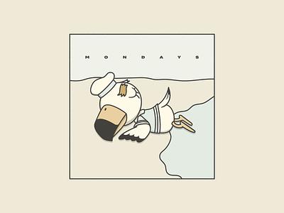 Mondays illustration gulliver beach animal crossing mondays