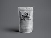 SHO.NORI Logo package design branding logo design packaging cannabis samurai