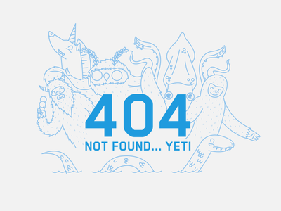 404 error  yeti unicorn moth man giant squid big foot nessy