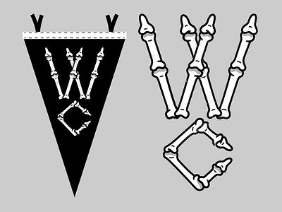West Cozy Pennant monogram skeleton pennant