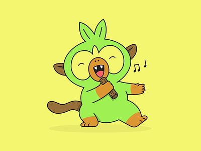 Grookey Gang! monkey illustration pokemon
