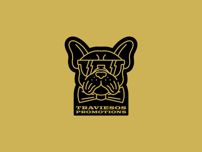 Traviesos Promotions Logo fly cool bowtie shades french bulldog