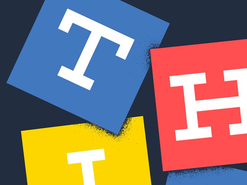 Think Detail print screen print typography ibm ibm design texture lettering building blocks