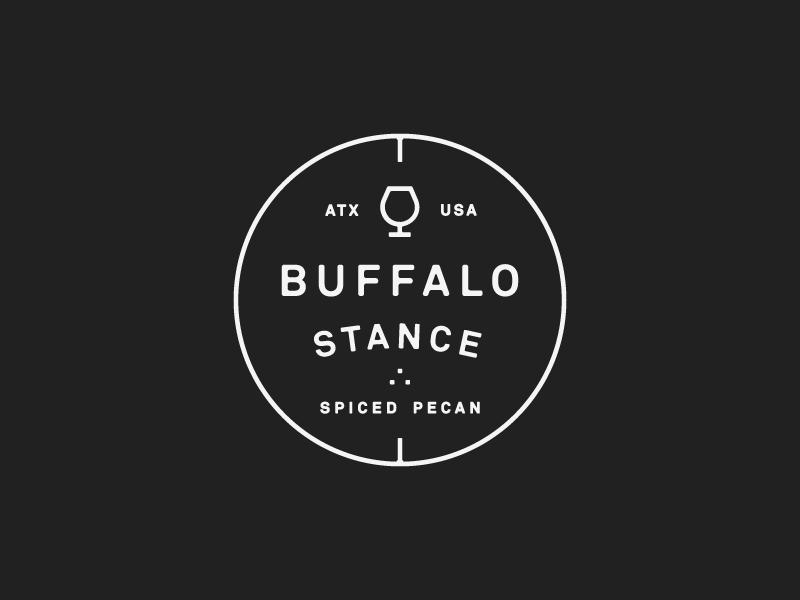 Badge buffalo drink order bar liquor akkurat typography lockup badge spice pecan whiskey bourbon