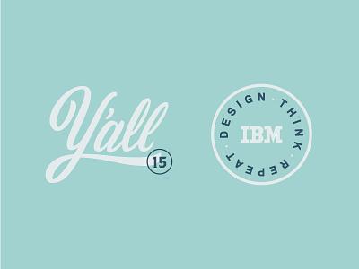 Designcamp, Y'all! logo wordmark akkurat design thinking ibm design script type badge