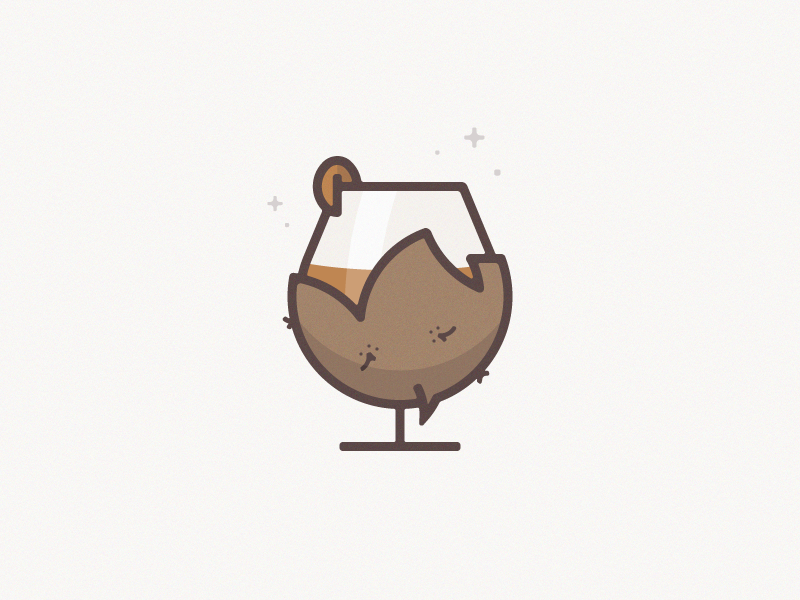 Buffalo Stance community thick line buffalo pecan drink bourbon whiskey icon illustration