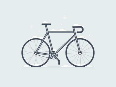 Morning Routine illustration icon screen print artcrank minneapolis snow art bike
