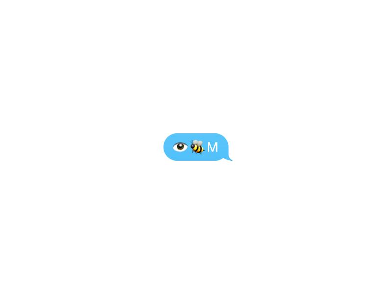 Eye Bee M appropriation lockup rebus messages icon ios emoji paul rand ibm