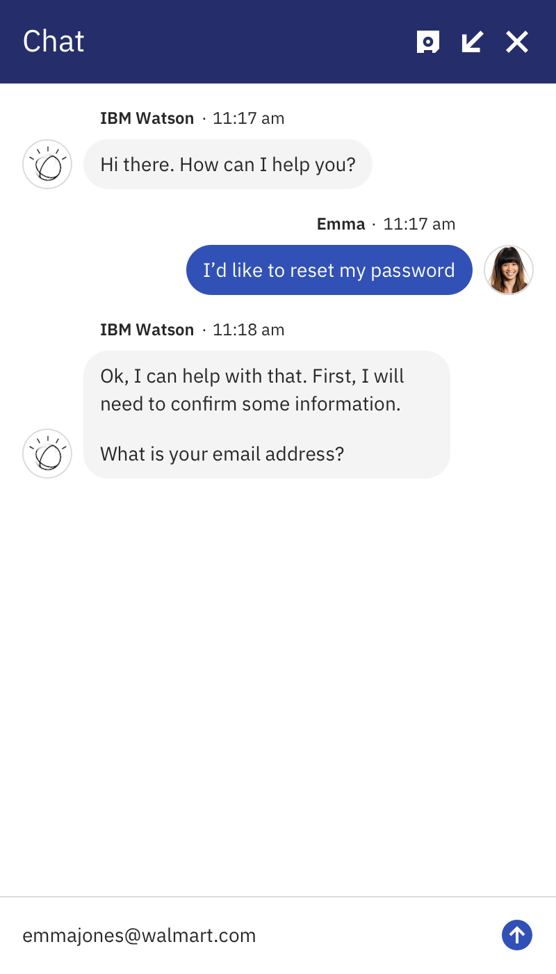 Emma email typing