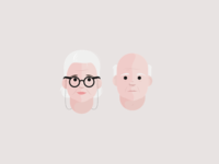 Old couple icon