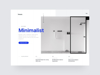 Homepage design web home test