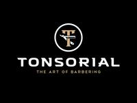 Tonsorial Barber Shop Logo Design