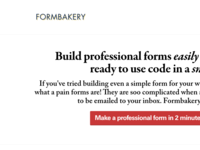 New Formbakery Homepage