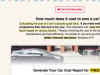 Car Cost Calculator Home