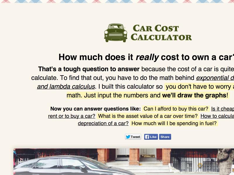 Car Cost Calculator By Kumail Hunaid Dribbble Dribbble
