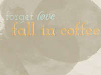 fall in coffee