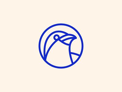 Bird Logo geometric blue branding logomark icon logo bird logo bird
