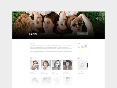 Show TV Template show show tv template web tv shows girls serie sinopsis rated actors