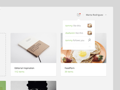 Boards boards collections images save notifications menu nav follow like moodboards app web