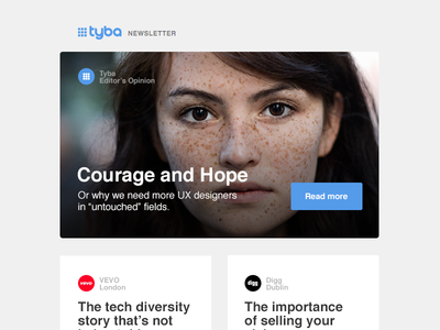 Tyba's start-up community newsletter mail email startups company companies community