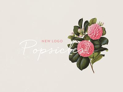 New logo logo lettering handwriting flowers design indentity