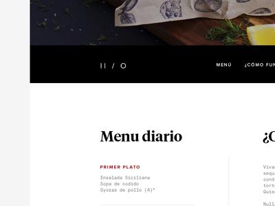 Food Company // Home food menu home web landing order restaurant company