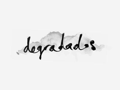 Degradados Logo handwritten logo watercolor brand fashion pencil type letter sketch