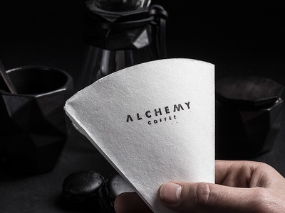 Alchemy Coffee Co lifework stamp coffee monogram logo embosser emboss