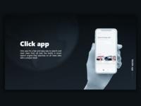 Click - breaking news app, landing page
